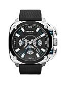 Diesel Men's BAMF Chronograph Black Leather Watch
