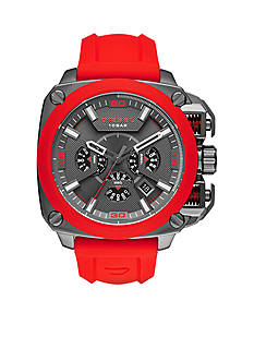 Diesel Men's BAMF Red Silicone Multifunction Watch