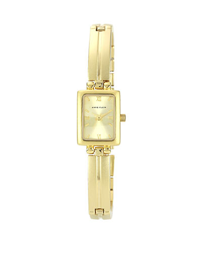 Anne Klein Gold Tone Bracelet with Champagne Dial