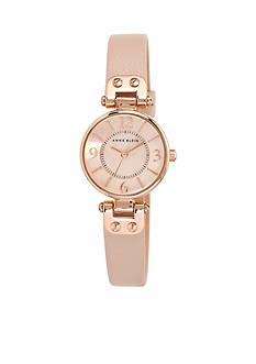 Anne Klein Women's Round Rose Gold-Tone Watch