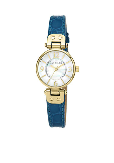 Anne Klein Round Gold-Tone Watch