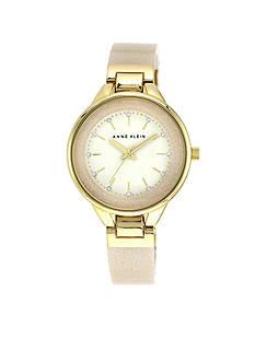 Anne Klein Ivory Glitter Crystal Bangle Watch