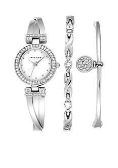 Anne Klein Silver Three-Piece Bracelet Boxed Set