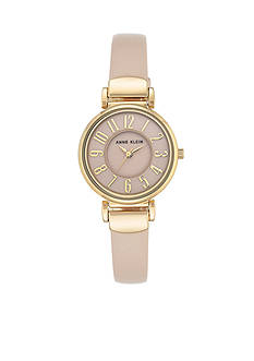 Anne Klein Gold-Tone Blush Dial Watch