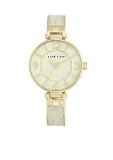 Anne Klein Women's Ivory Marbleized Bangle Watch