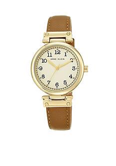 Anne Klein Women's Gold-Tone Case Watch