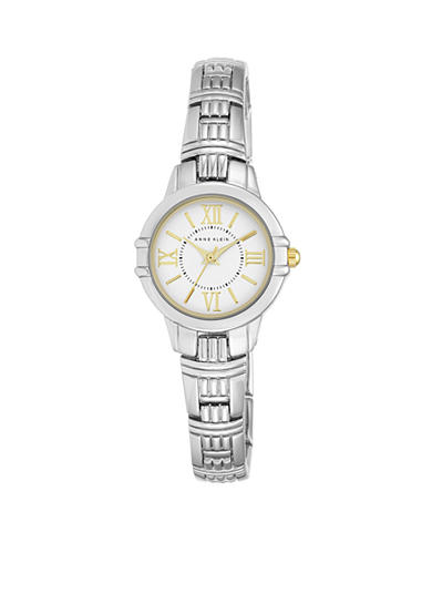 Anne Klein Women's Two-Tone Textured Bracelet Watch