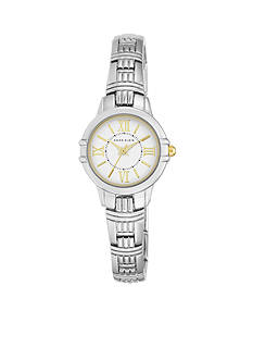 Anne Klein Women's Two-Tone Textured Bracelet Watch
