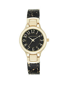 Anne Klein Women's Gold-Tone Bangle Watch
