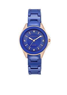 Anne Klein Women's Ceramic Cobalt Blue Watch