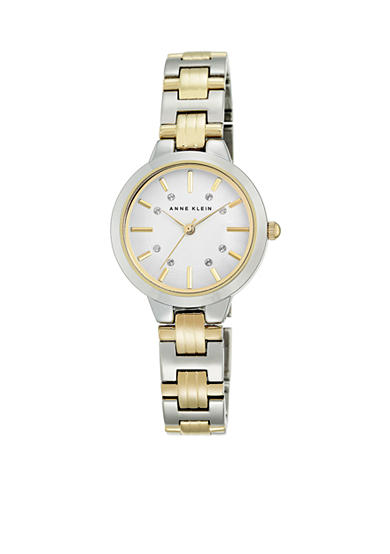 Anne Klein II Watches Women's Two-Tone Crystal Dial Watch