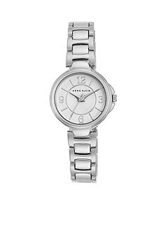 Anne Klein Silver-Tone watch with Matte Center Link Bracelet