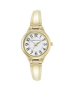 Anne Klein Women's Gold-Tone Bangle Watch