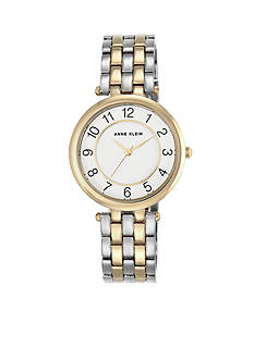 Anne Klein Women's Two-Tone Crystal Watch