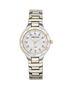 Anne Klein Women's Two-Tone Diamond Dial Watch