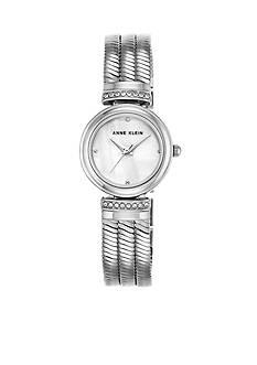 Anne Klein Women's Silver-Tone Snake Chain Watch