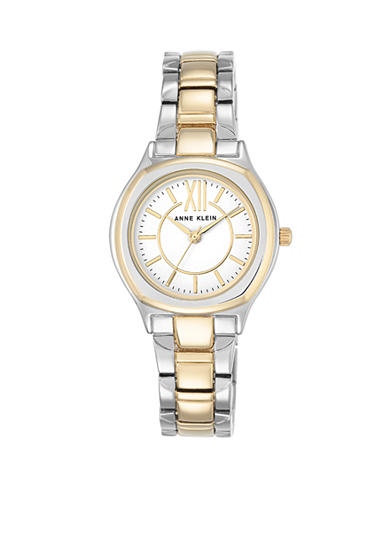 Anne Klein Two-tone White Dial Bracelet Watch