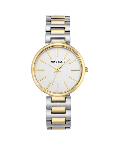 Anne Klein Two-Tone Round Link Watch