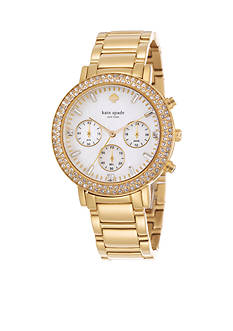 kate spade new york® Pave Multi Function Gramercy Grand Watch