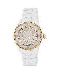 kate spade new york® Seaport Grand Pave Enamel Watch