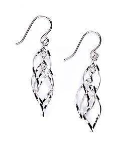Belk Silverworks Silver 100 Spiral Drop Earring