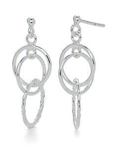 Belk Silverworks Pure 100 Multi Ring Drop Earring