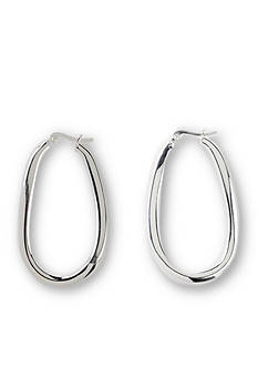 Belk Silverworks Pure 100 E Coat Large Oval Hoop Earrings