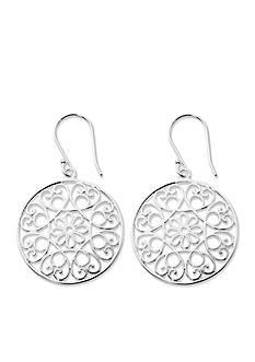 Belk Silverworks Silver-Tone Pure 100 Filigree Drop Earring
