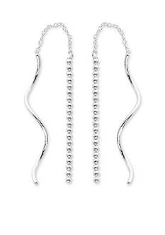 Belk Silverworks Silver-Tone Pure 100 Twisted Threader Drop Earring