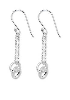 Belk Silverworks Silver-Tone Pure 100 Double Link and Chain Drop Earrings