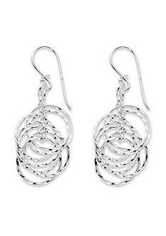 Belk Silverworks Silver-Tone Pure 100 Multi Twisted Ring Drop Earrings