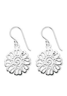 Belk Silverworks Silver-Tone Pure 100 Flower Drop Earrings
