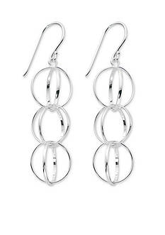 Belk Silverworks Silver-Tone Pure 100 Multi Ring Drop Earrings