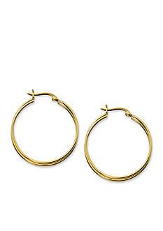 Belk Silverworks 24kt Gold Over Pure 100 Twisted Double Hoop Earrings