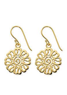 Belk Silverworks Gold-Tone Pure 100 Flower Drop Earrings
