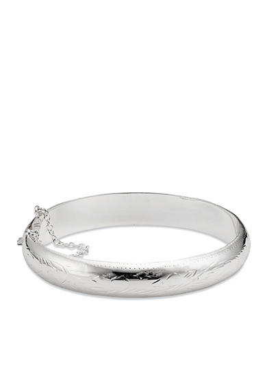 Belk Silverworks Engraved Pure 100 Boxed Bangle Bracelet