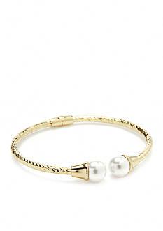 Belk Silverworks 24k Gold-Plated Twisted Bracelet
