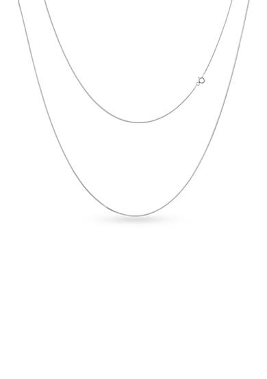 Belk Silverworks Silver-Tone Pure 100 Snake Chain Necklace