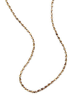Belk Silverworks Necklace in 24Kt Gold over Silver 100