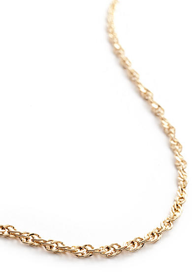 Belk Silverworks 24k Gold Over Silver 100 Singapore Chain