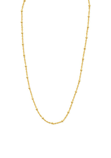 Belk Silverworks Gold-Tone Pure 100 Beaded Station Chain Necklace