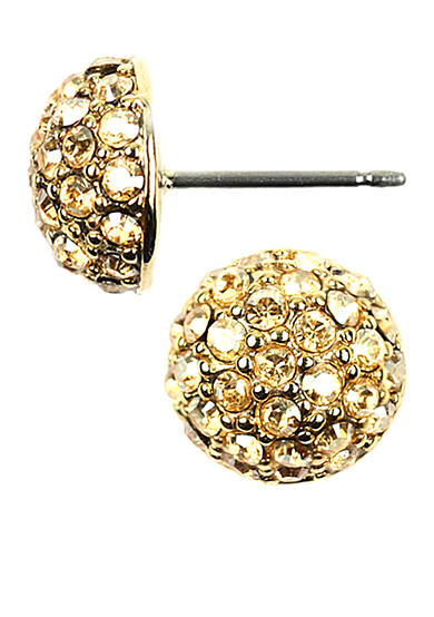 Givenchy Gold-Tone Crystal Fireball Stud Earrings