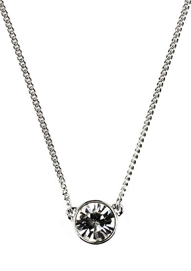 Givenchy Crystal Stone Pendant Necklace