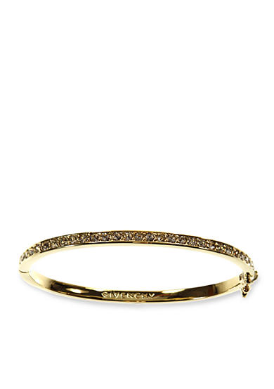 Givenchy Gold-Tone Pave Bangle Bracelet