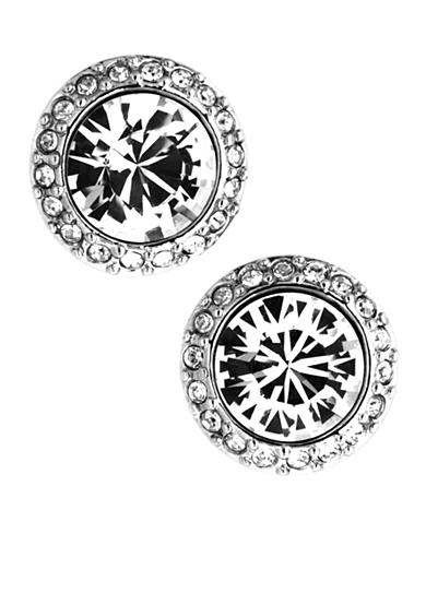 Givenchy Crystal Pave Button Earrings