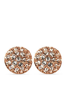 Givenchy Rose Gold-Tone Button Earrings