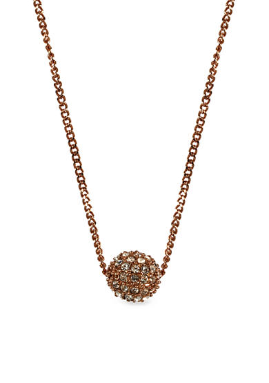 Givenchy Rose Gold-Tone Fireball Pendant Necklace
