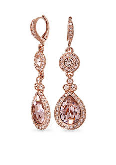 Givenchy Rose Gold Tone Tear Drop Earrings
