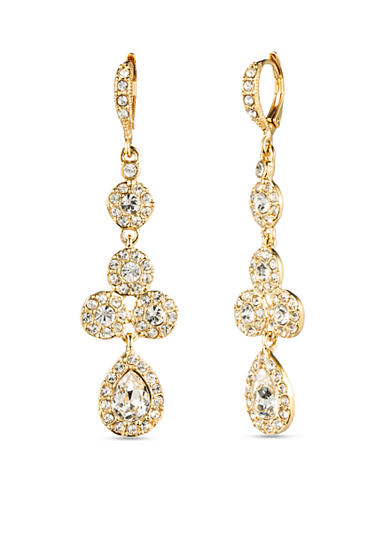 Givenchy Gold-Tone Crystal Pear Drop Earrings