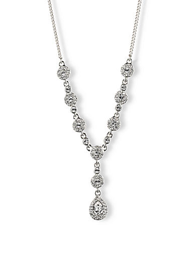 Givenchy Crystal Pear Y Front Necklace